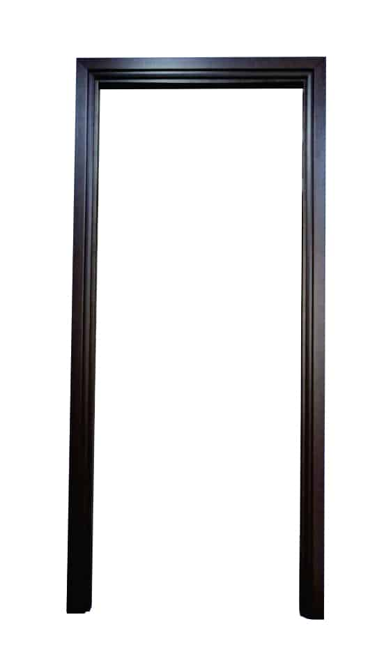 วงกบประตู UPVC แบบมีซับ รุ่น SUB 204 สีวอนัทโอ๊ค แบบติดตั้งแห้ง