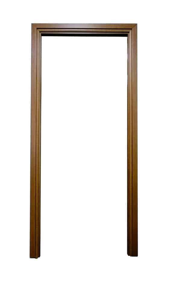 วงกบประตู UPVC แบบมีซับ รุ่น SUB 204 สีสักทอง